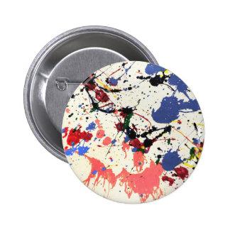 Artists Paint Splatter Background Button