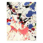 Artists Paint Splatter Background Post Card