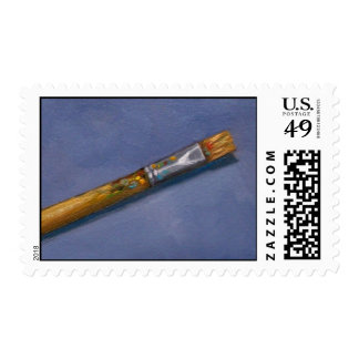 ARTIST'S PAINTBRUSH STAMP