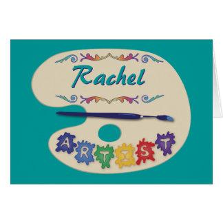 Artist's Palette Greeting Card