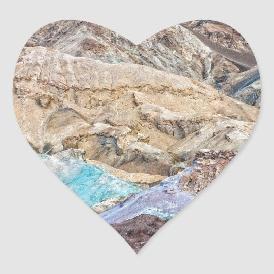 Artist's Palette (Close-Up) Heart Sticker