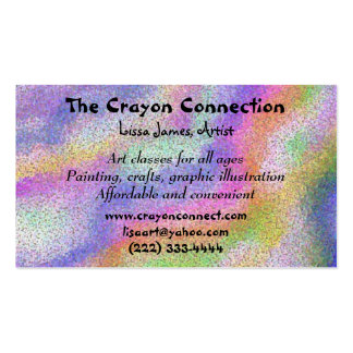Artist's Palette Double-Sided Standard Business Cards (Pack Of 100)
