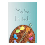 """Artist's Palette Event Invitation 5"""" X 7"""" Invitation Card"""