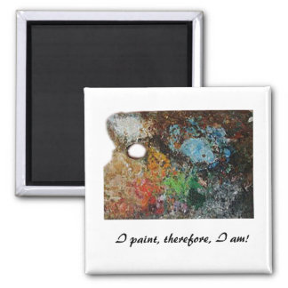 Artist's Palette 2 Inch Square Magnet