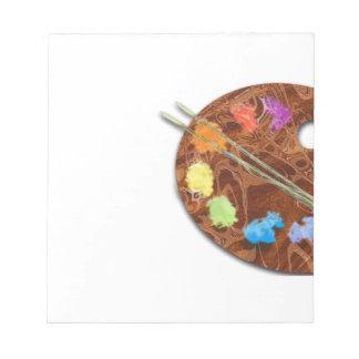 Artist's Palette Memo Pad
