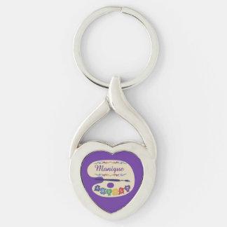 Artists Palette on Purple Keychain