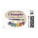 Artist's Palette Postage Stamp