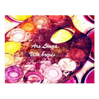 Artist's palette postcard