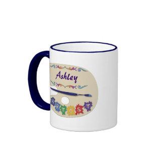 Artist's Palette Ringer Mug