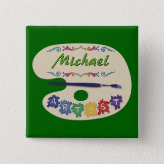 Artist's Pallet Name Badge Button