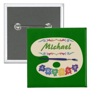 Artist's Pallet Name Badge Pin