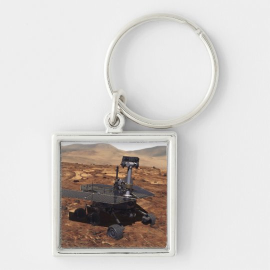Artists rendition of Mars Rover 2 Keychain