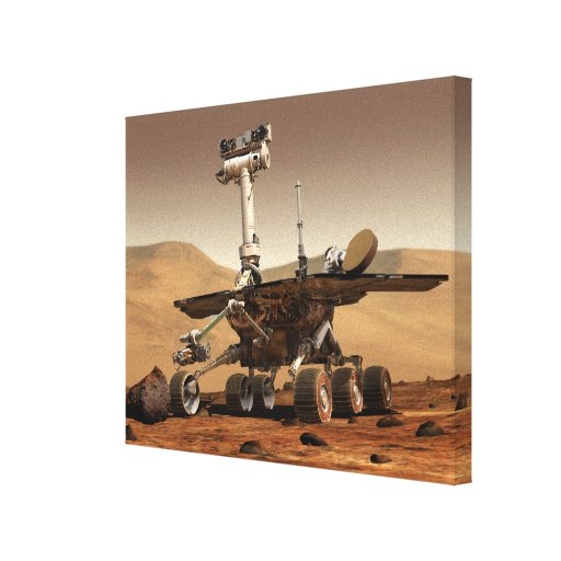 Artist's Rendition of Mars Rover Canvas Print
