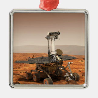 Artists rendition of Mars Rover Metal Ornament