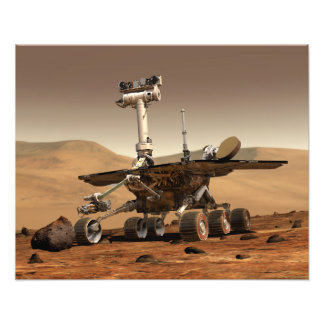 Artist's Rendition of Mars Rover Photo Print