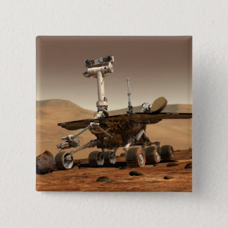 Artist's Rendition of Mars Rover Pinback Button