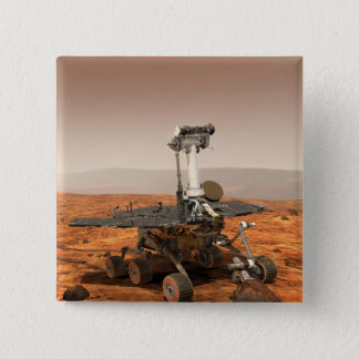 Artists rendition of Mars Rover Pinback Button