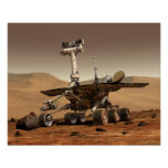 Artist's Rendition of Mars Rover Poster