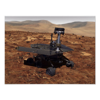 Artists rendition of Mars Rover Poster