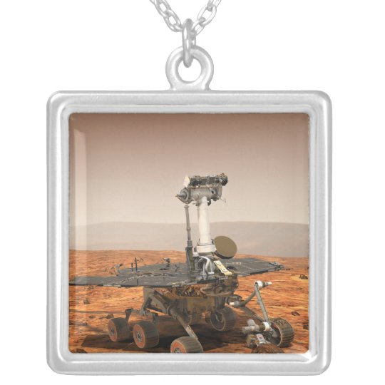 Artists rendition of Mars Rover Silver Plated Necklace