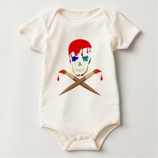 Artist's Skull & Crossbones Baby Bodysuit