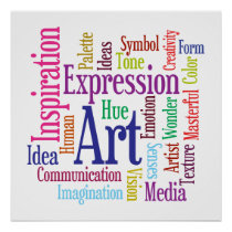 Artist's Studio Colorful Creative Inspirations Poster