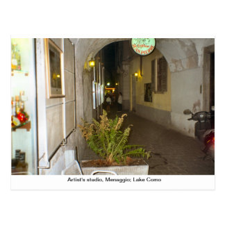 Artist's studio, Menaggio; Lake Como Postcard