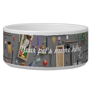 Artist's supplies bowl