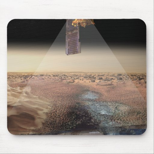 Artist's View of Odyssey Detecting Ice Mouse Pad