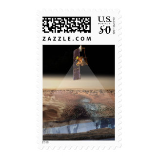 Artist's View of Odyssey Detecting Ice Postage