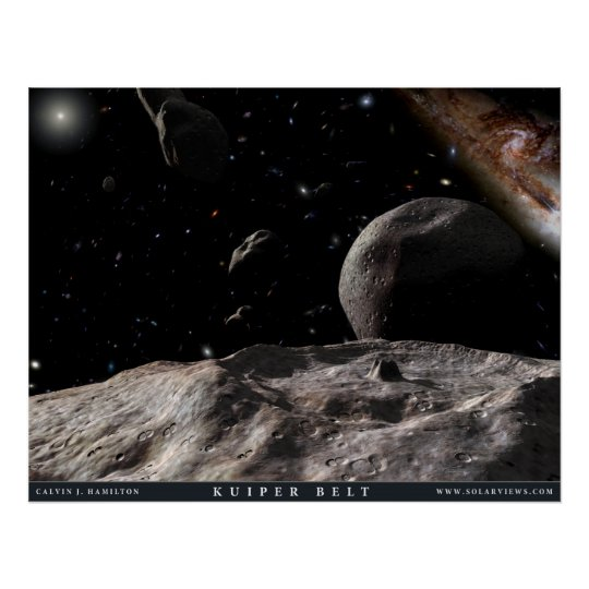 Artist's View of the Kuiper Belt Poster