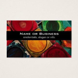 Artists Watercolor Paint Box Palette Business Card