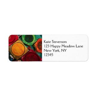 Artists Watercolor Paint Box Palette Label