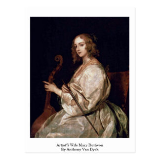 Artist'S Wife Mary Ruthven By Anthony Van Dyck Post Cards