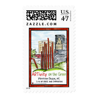 ARTivity on the Green Postage Stamps