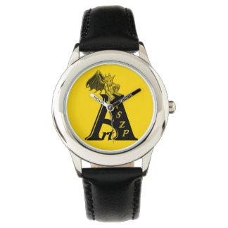 ArtKSZP logo with GOLEM - Gargoyle Wristwatch