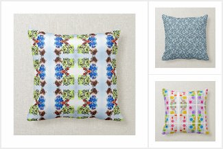 Artmiabo Pattern and Print throw pillows