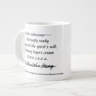 Artolozaga Haiku & Poetry #7 with jaoa signature Large Coffee Mug