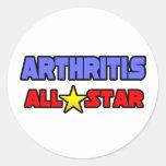 Artritis All Star Pegatinas Redondas