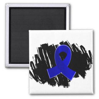 Artritis Blue Ribbon con garabato Imán Cuadrado