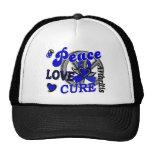 Artritis de la curación 2 del amor de la paz gorros bordados