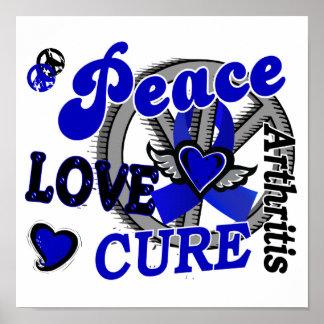 Artritis de la curación 2 del amor de la paz posters