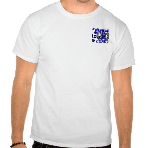 Artritis de la curación 2 del amor de la paz camisetas