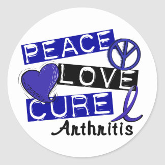 Artritis de la curación del amor de la paz pegatina redonda