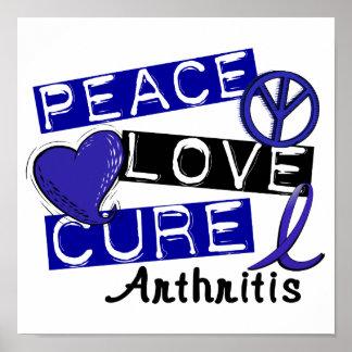 Artritis de la curación del amor de la paz póster