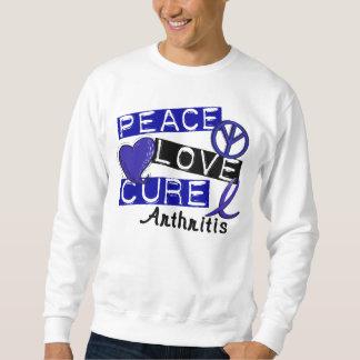 Artritis de la curación del amor de la paz sudadera con capucha