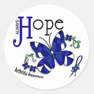 Artritis de la mariposa del vitral etiquetas