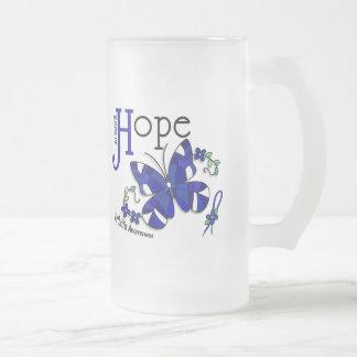Artritis de la mariposa del vitral tazas de café