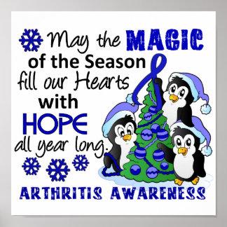 Artritis de los pingüinos del navidad posters