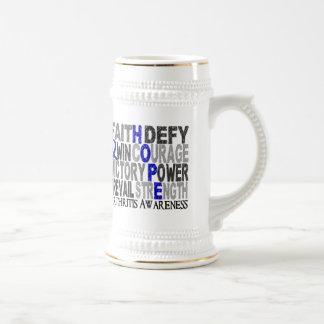 Artritis del collage de la palabra de la esperanza tazas de café